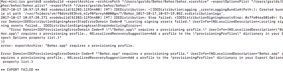 Add a profile to the provisioningProfiles dictionary in your