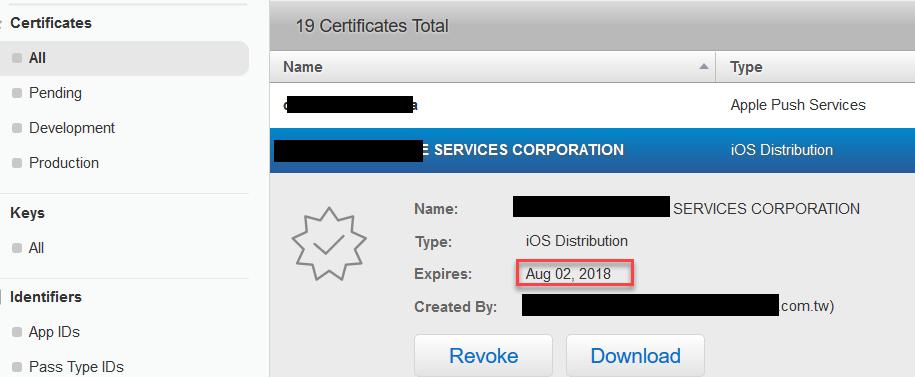 [快過期的In-House certificate]