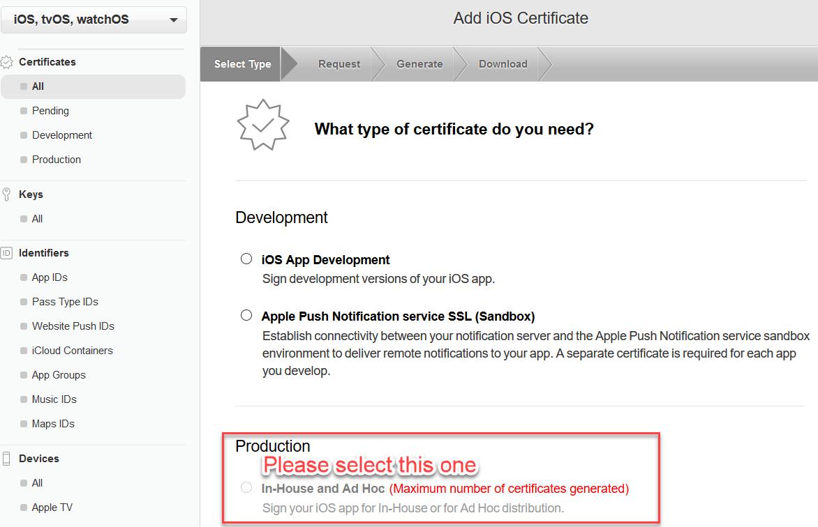 [新增In-House certificate]